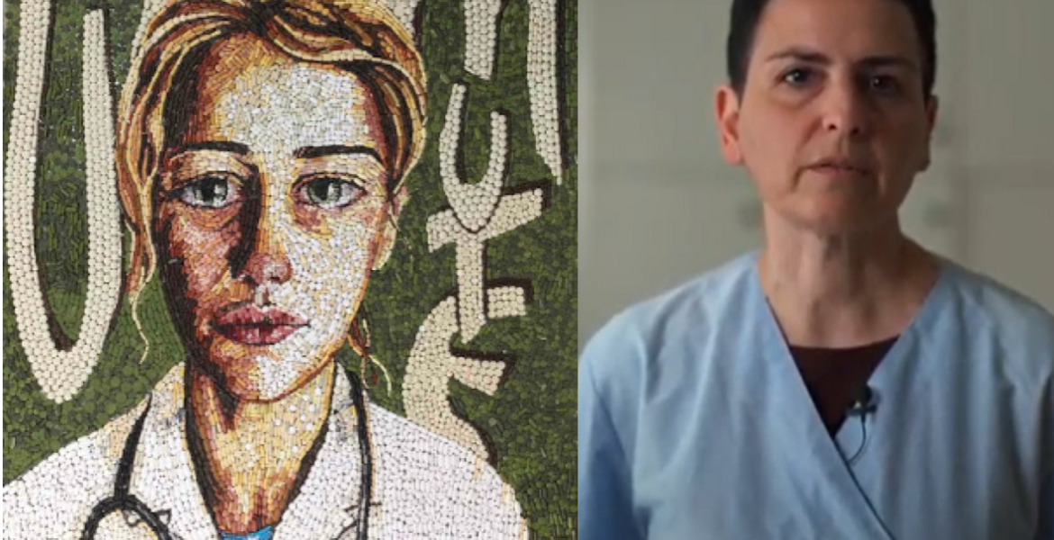 Doctor in Crete creates mosaics made from expired pills