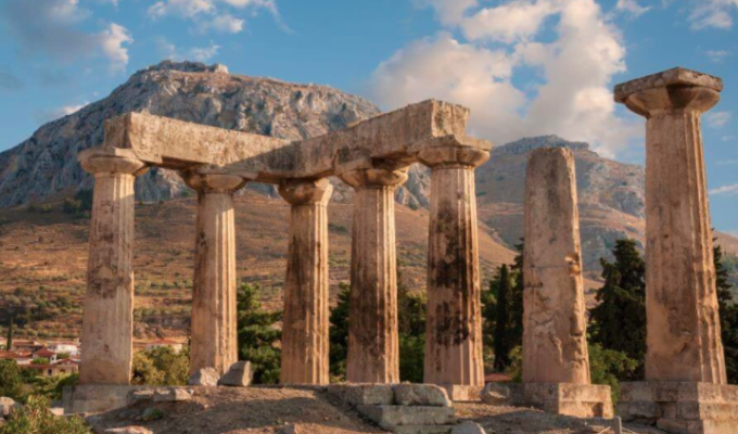 Acrokorinthos ancient city of Greece
