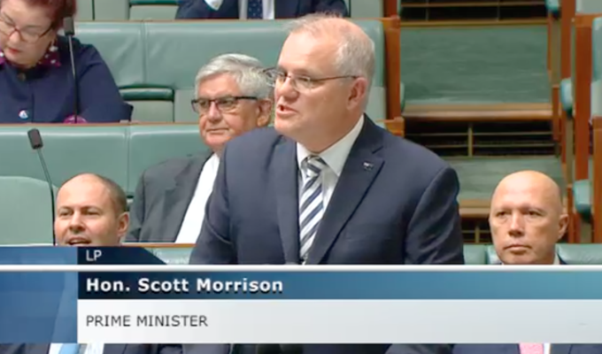 Australian Parliament - Prime Minister Scott Morrison on Greek Independence Day