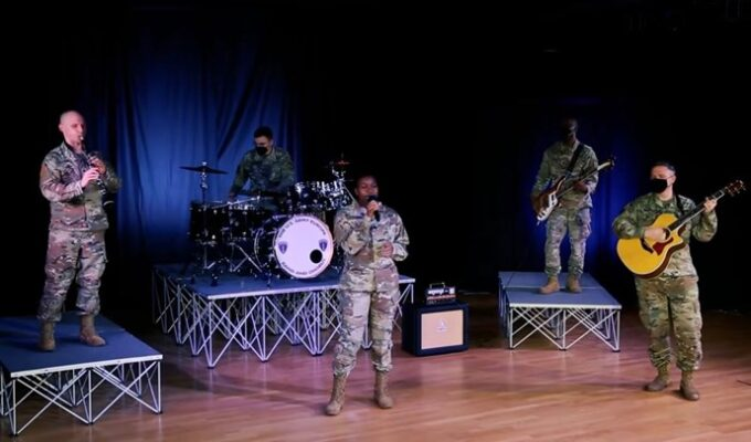 US Army band performs the 'Dance of Zalongo'