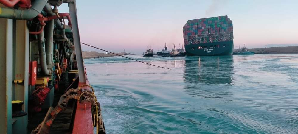 Ever Given ship in Suez Canal is re floated with Egyptian help 1