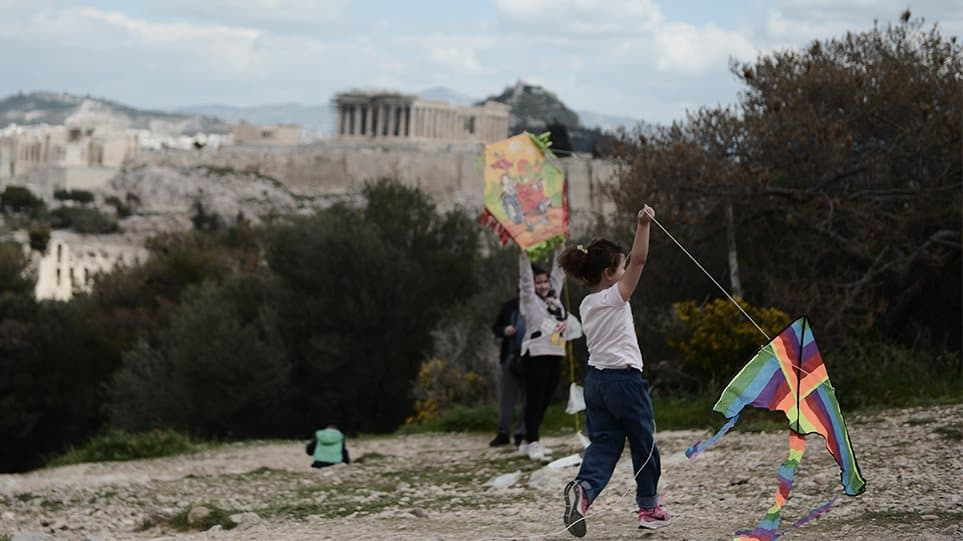 Kites fill the sky on Clean Monday despite covid-19 pandemic