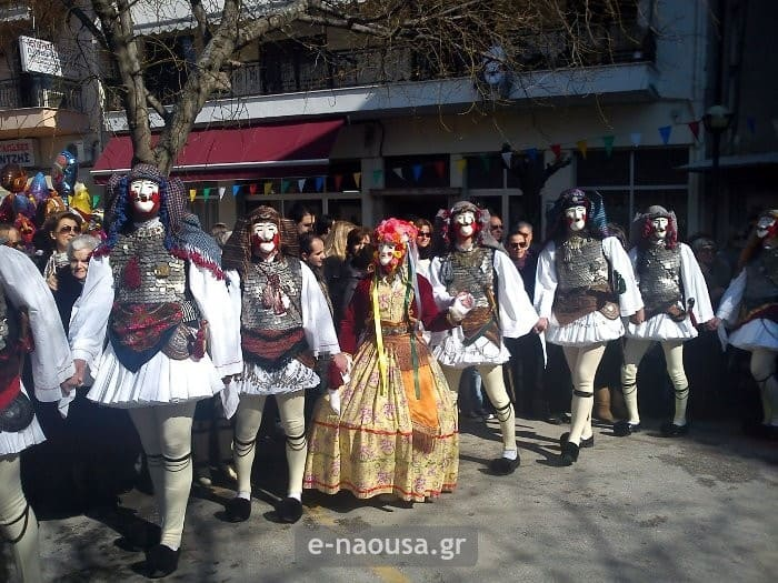 Naousa Greek carnival Janissaries and Boules