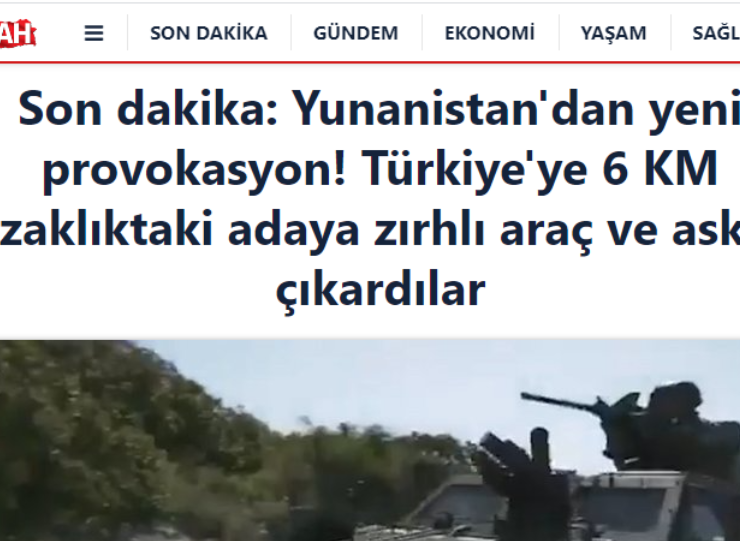 """Sabah: """"Greece provokes by conducting military exercises in Chios"""" 3"""