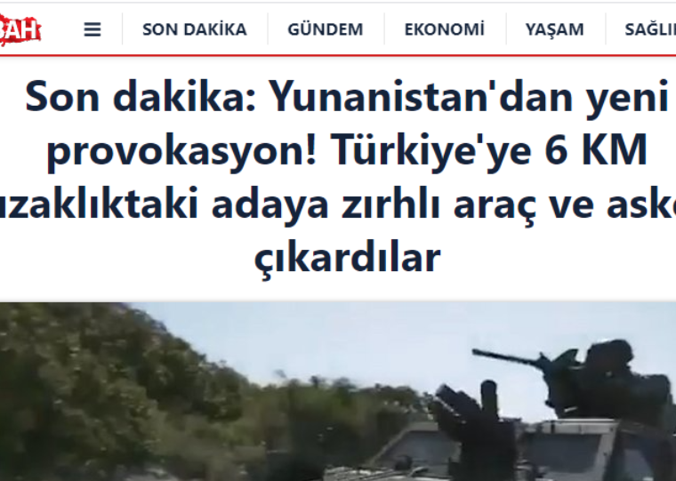 """Sabah: """"Greece provokes by conducting military exercises in Chios"""" 4"""
