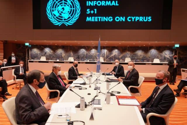 """Greece and Cyprus fully cooperating in Geneva against Turkey's """"two-state solution"""" 3"""