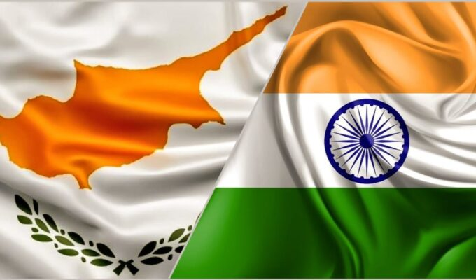 India Cyprus flags