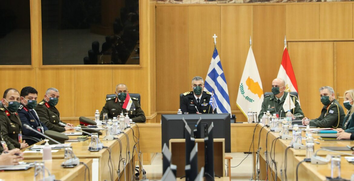 Greece-Egypt-Cyprus sign military cooperation deal 1