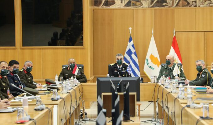Greece-Egypt-Cyprus sign military cooperation deal 3