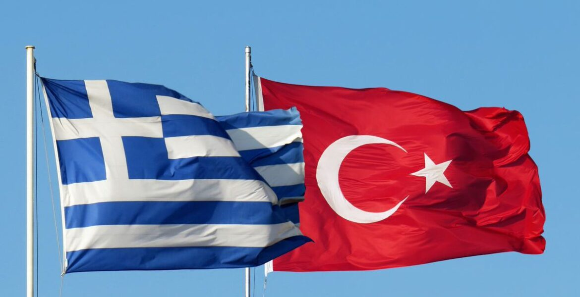 Greek turkish flags