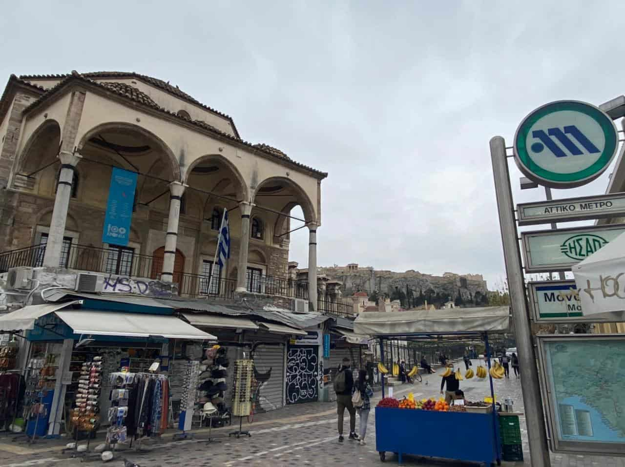 See Monastiraki and Ermou Street on the first day of partial retail reopening 1