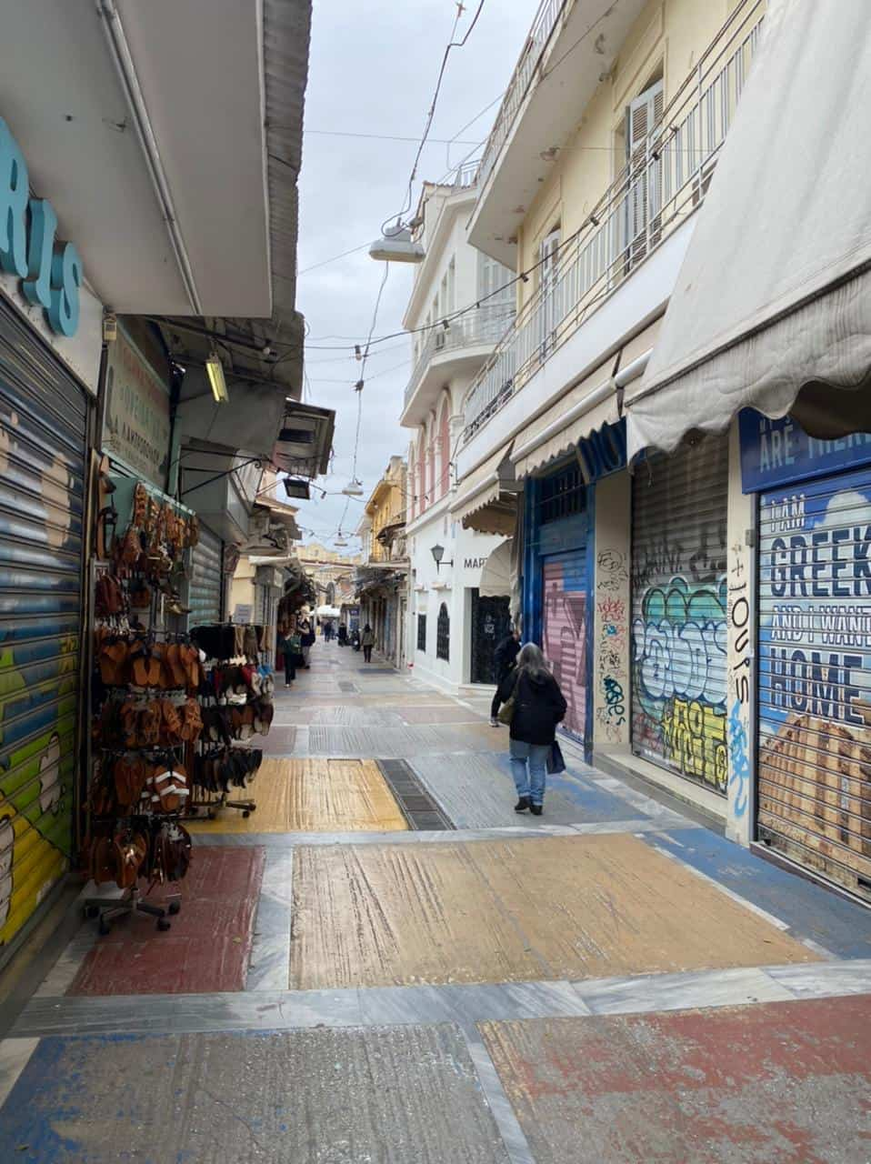 See Monastiraki and Ermou Street on the first day of partial retail reopening 5
