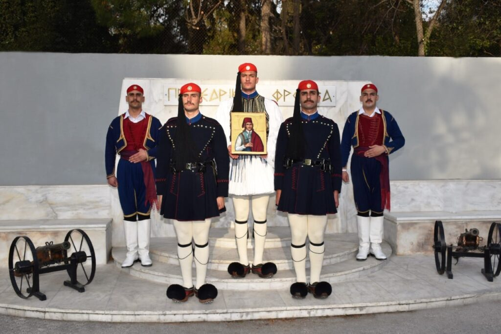 Greece's Presidential Guard gifted with icon of their Patron Saint