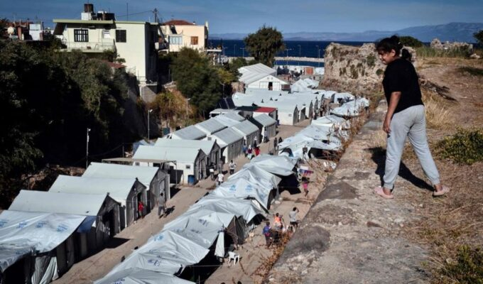Chios migrant camp