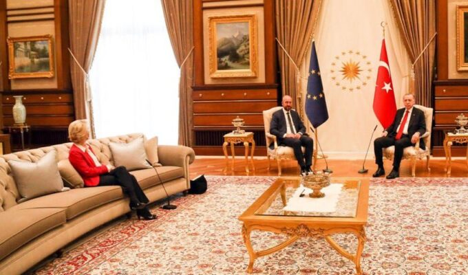 Two E.U. Presidents Visited Turkey. Only the Man Was Offered A Chair. 3