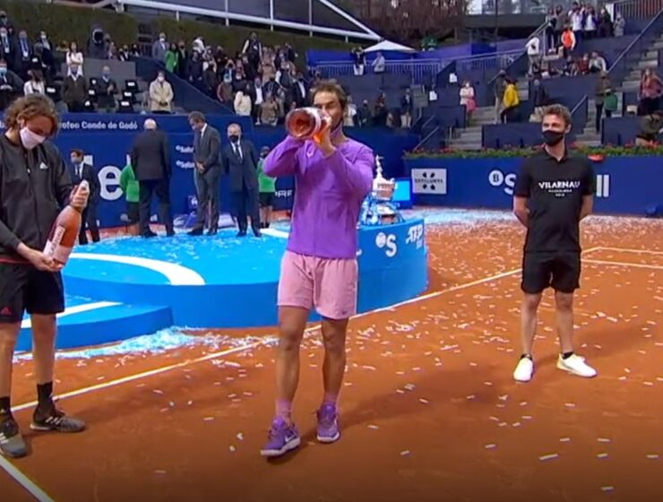 Rafael Nadal beats Stefanos Tsitsipas on Sunday to claim a 12th Barcelona Open title in the ATP's longest match of 2021 9
