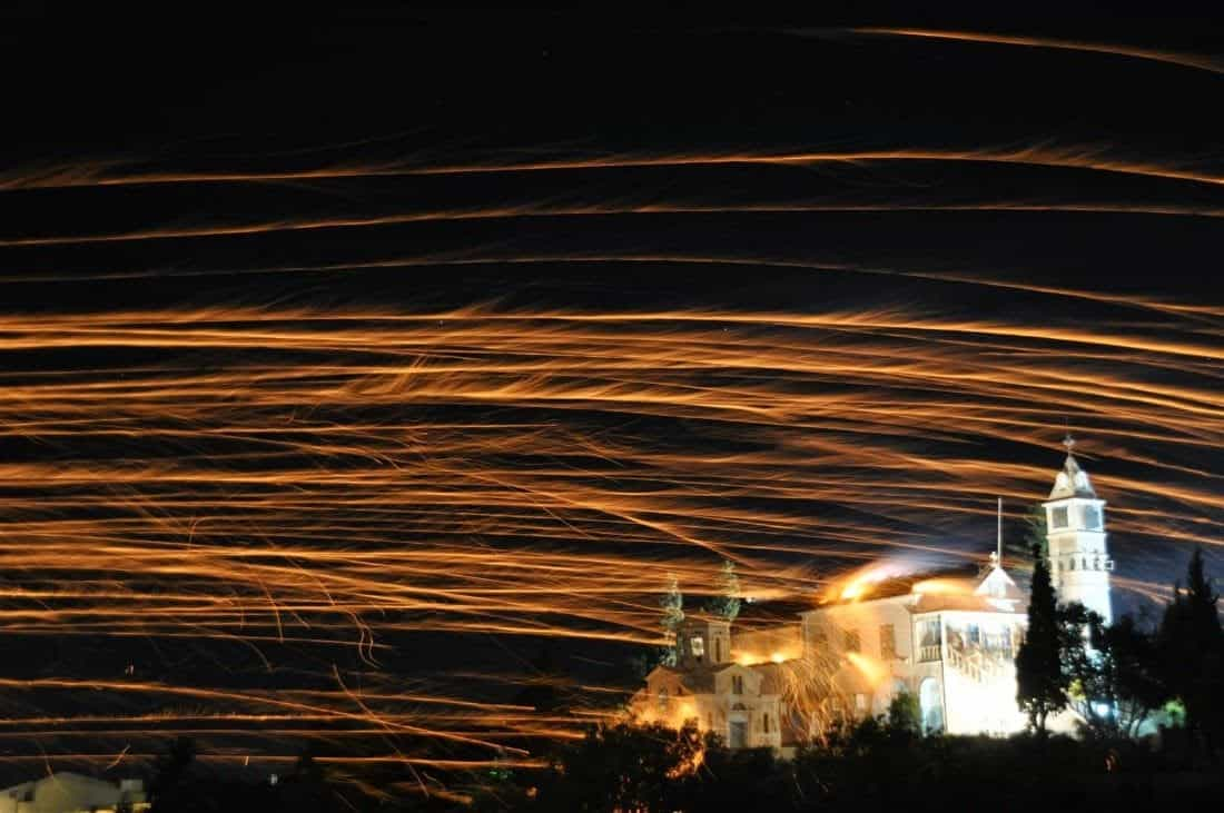 Vrontados fireworks Greek Easter