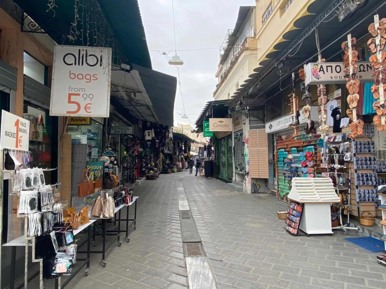 See Monastiraki and Ermou Street on the first day of partial retail reopening 9
