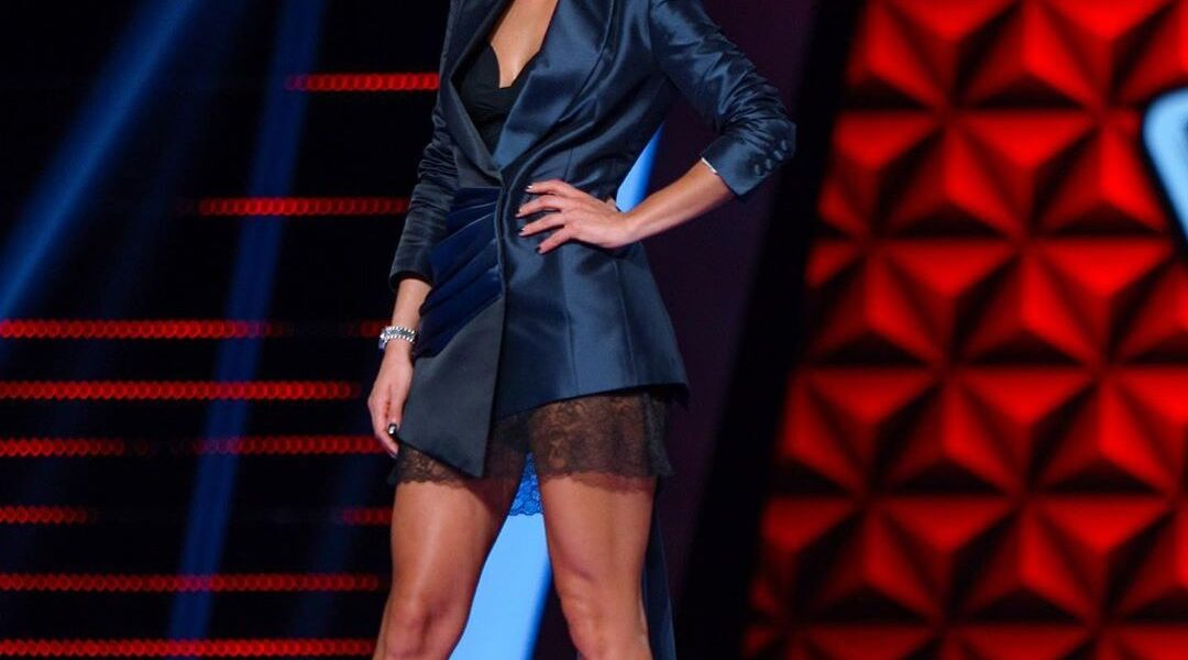 Digital creator Christina Bompa Tanimanides donates the dress she wore at her first appearance as a presenter of The Voice of Greece