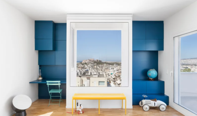 This stunning apartment view in Kolonaki looks like a painting