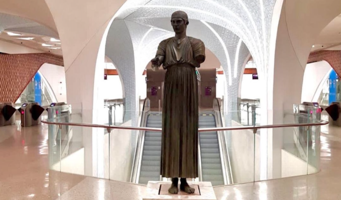 Charioteer of Delphi replica unveiled at HIA's 'Doha Metro' Station