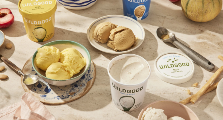 Dairy-free frozen dessert crafted with olive oil