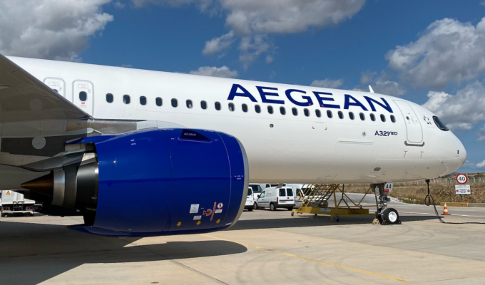 Aegean Airlines saw 65% drop in passengers in 2020