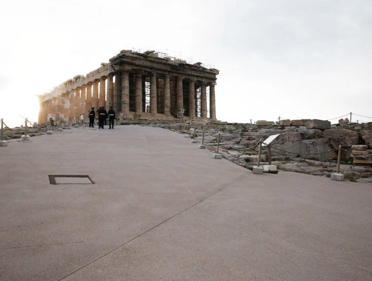 Greece's decision to cement sections of the Acropolis