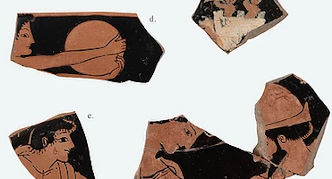 Kylix Fragments - The faces of Ancient Greece