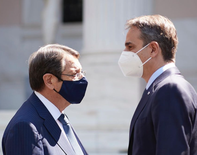 Anastasiades and Mitsotakis discuss the upcoming Geneva talks on the Cyprus issue
