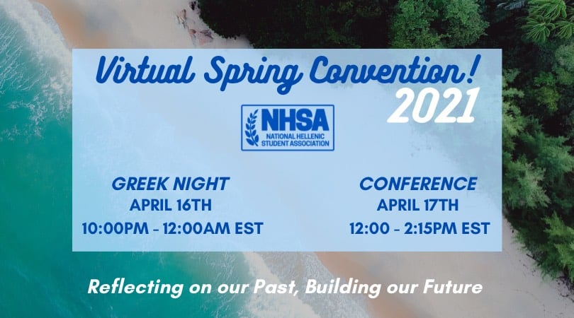 National Hellenic Student Association announce Spring 2021 Virtual Convention