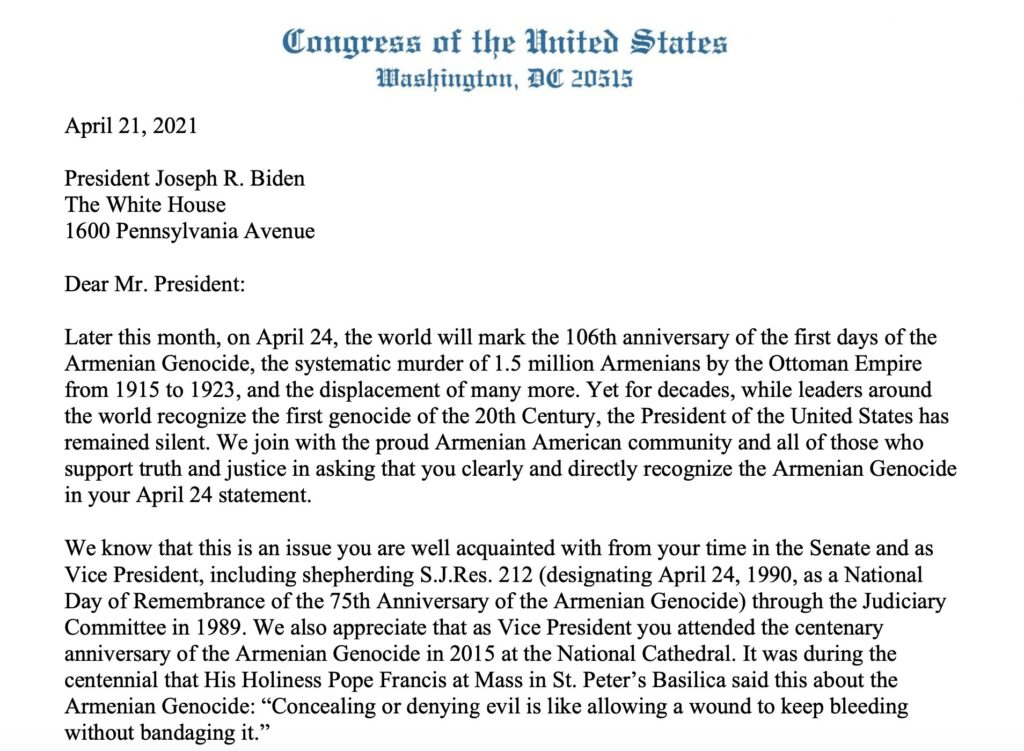 Biden will officially become the first U.S. president to recognize atrocities against 1.5 million Armenians 1
