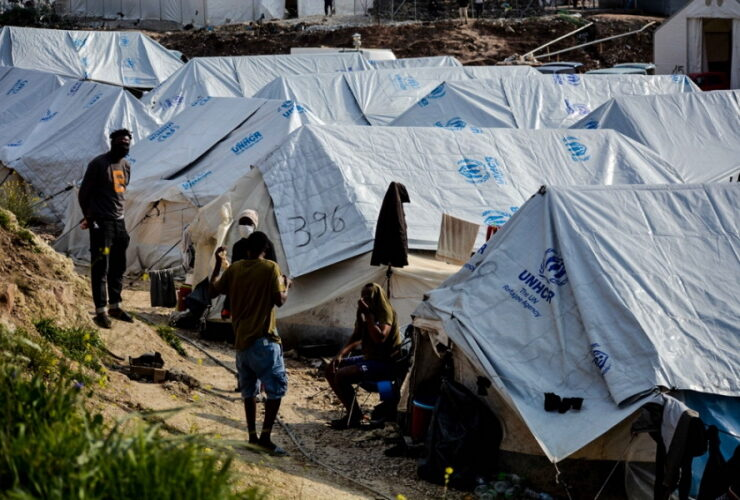 Overcrowding in migrant camps in Greece eases
