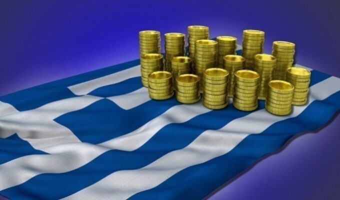 Greek bond Greece flag euros money finance economy