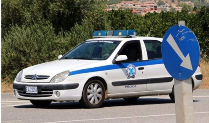 Greek police car rhodes
