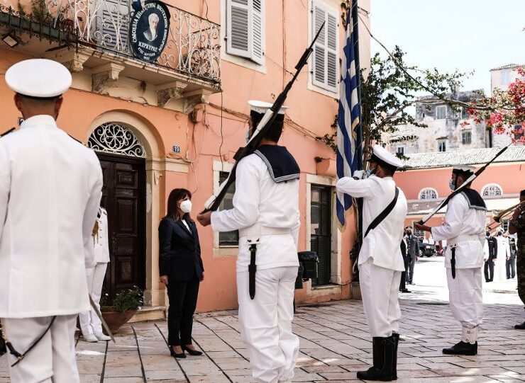 President Sakellaropoulou in Corfu to celebrate the Ionian Islands union with Greece 1
