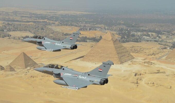 Egypt French-made rafale pyramids