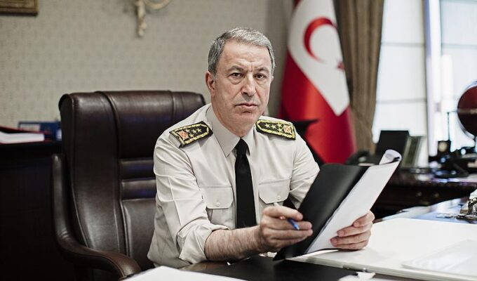 Turkish Defence Minister Hulusi Akar.