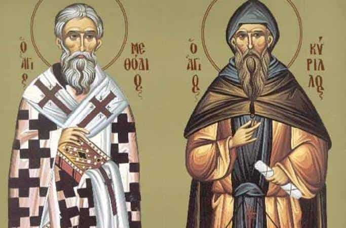 10th May we celebrate Name days of two brothers Saint Cyrillos and Methodius 1