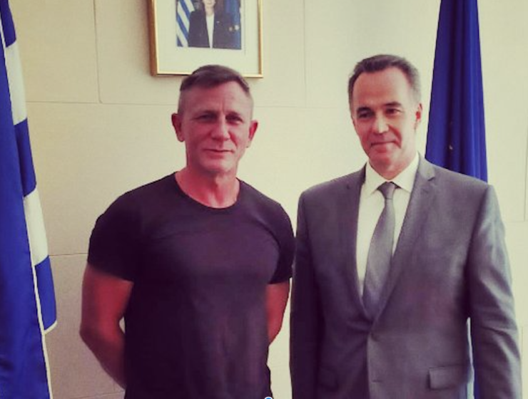 Daniel Craig visits the Consulate General of Greece in New York