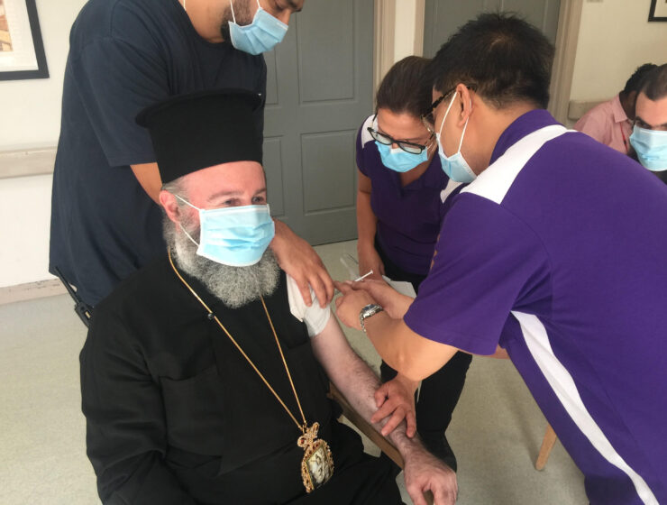 Archbishop of Australia Mr. Makarios received the second dose of the coronavirus vaccine. 20