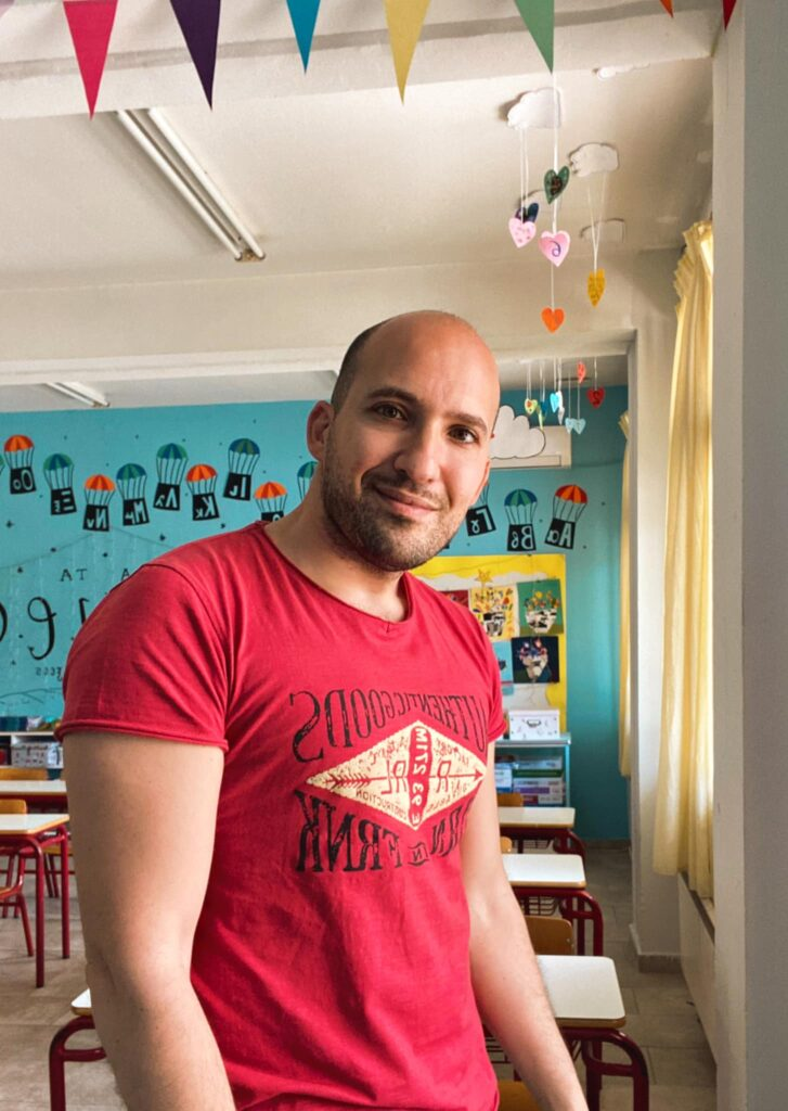 Greek Teacher encourages his students to practice self-kindness