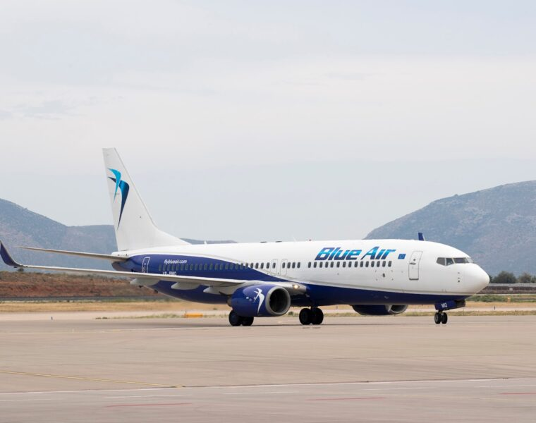 Blue Air operates 17 weekly flights to 5 Greek destinations