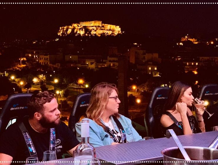 Dinner in the Sky dangles over Athens