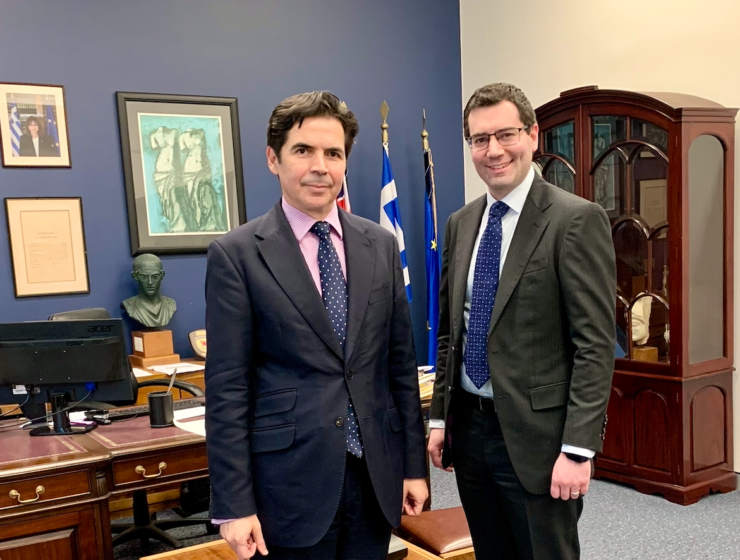 Consul-General of Greece in Sydney meets with the CEO of NSW Jewish Board of Deputies