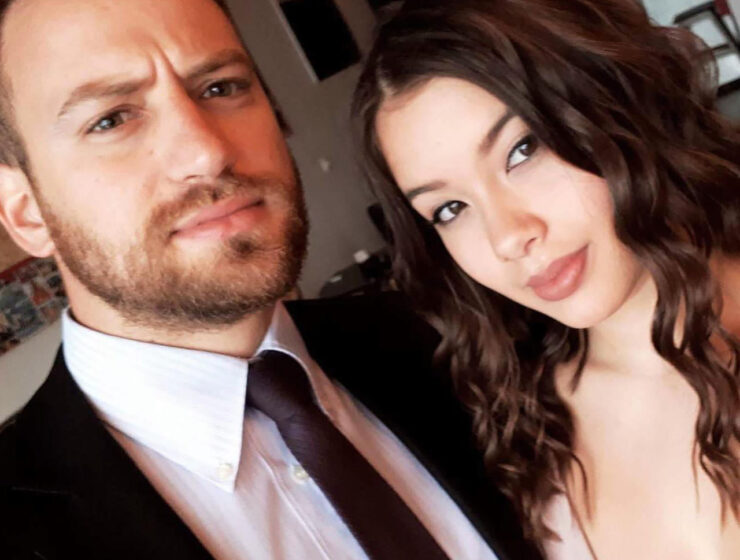 Caroline Crouch and her husband Babis Anagnostopoulos.