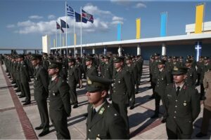 Greek President presents graduation swords to new young officers 3