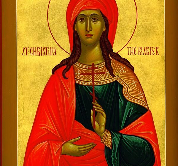 July 24: Christina the Great Martyr of Tyre 3