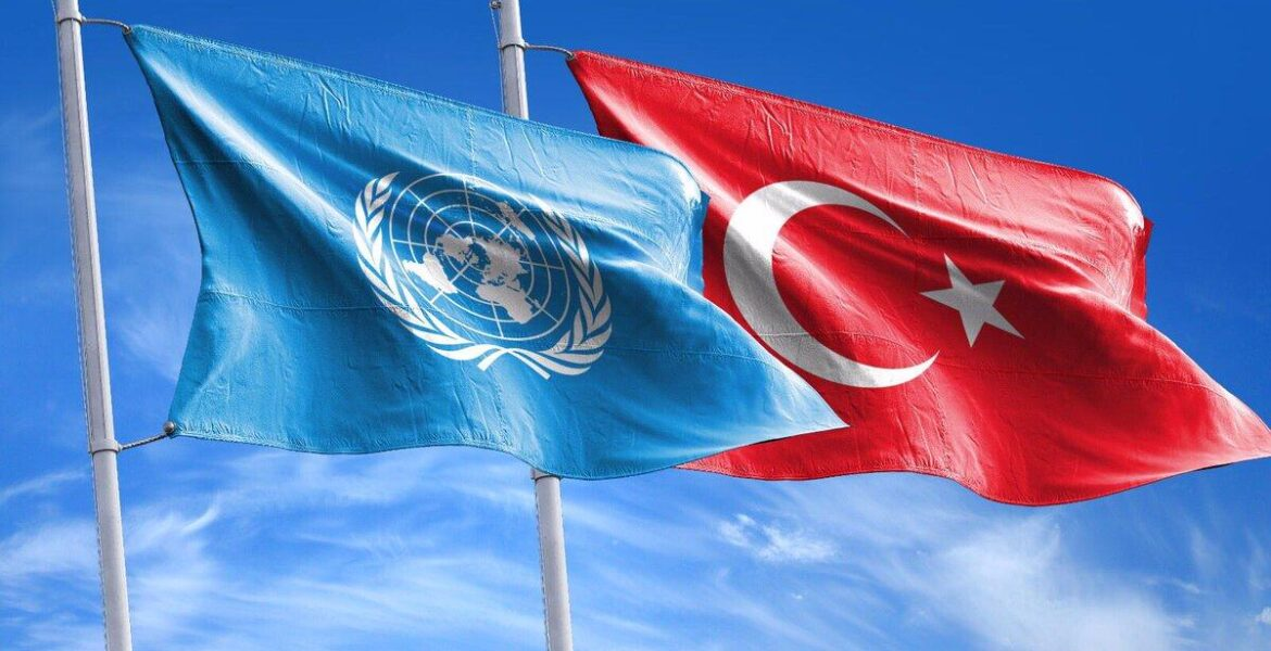 Turkey United Nations flags letter