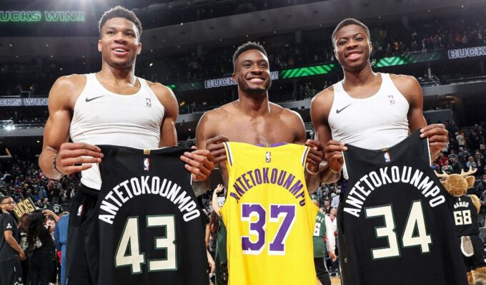 Giannis, Thanasis and Kostas Antetokounmpo become first three brothers to win NBA championships 4